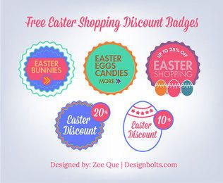 Vintage Easter Discount Badge Set