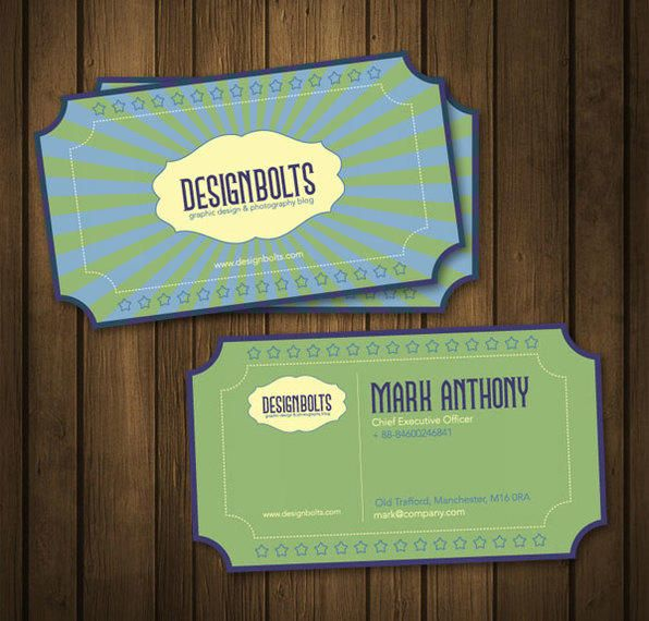 Retro Business Card Template Vector Download