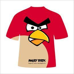 Diseño de camiseta de misil aviar rojo de Angry Bird