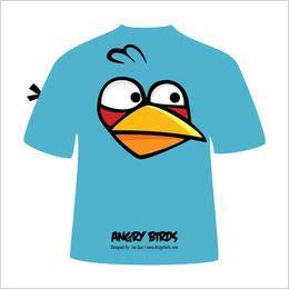 T-shirt irritado azul do pássaro