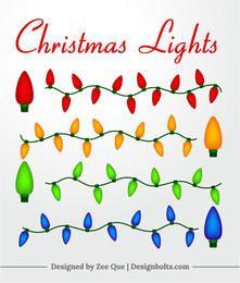 Luzes coloridas da decoração de natal