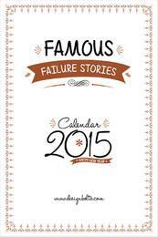 Berühmte Motivationsgeschichten druckbarer Kalender 2015