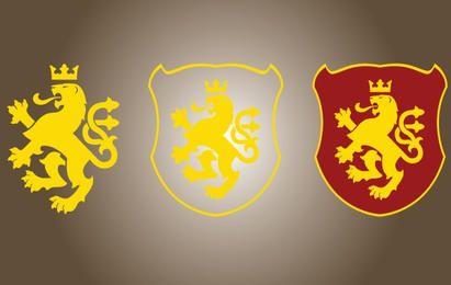 León amarillo dorado de Macedonia