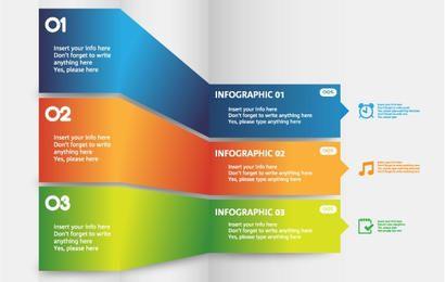 Modelo de info-gráfico dobrável