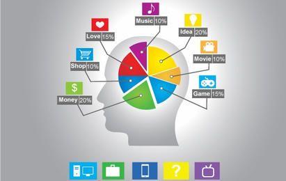 Plantilla de información-gráfica basada en la mente