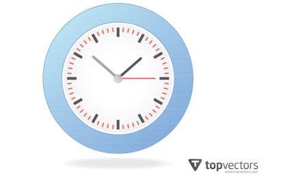 Reloj de pared analógico simple realista