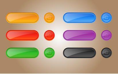 Paquete de botones de plantilla brillante