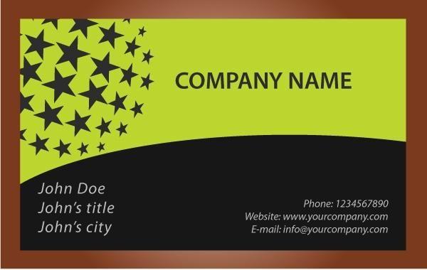 Black star business card vector download black star business card download large image reheart Choice Image