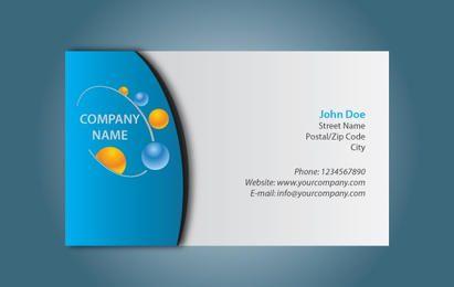Cartão preto & azul simples