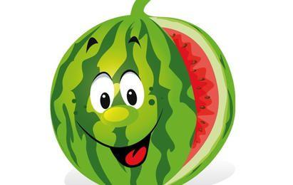 Desenhos animados da melancia