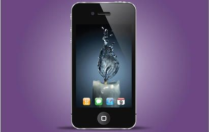 Iphone Black Realistic Style