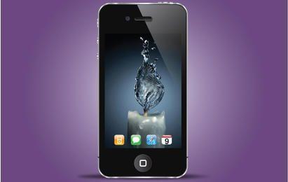 Iphone Realista Negro Estilo