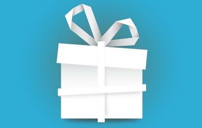 Caja de regalo hecha de papel