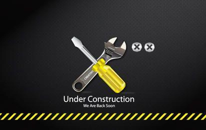 Icono de herramientas de construcción