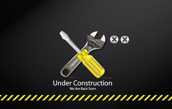 Sob o ícone de ferramentas de construção