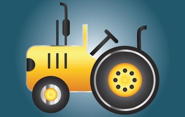 Icono Tractor Amarillo