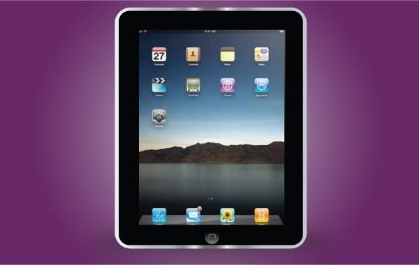Apple Black iPad Frame