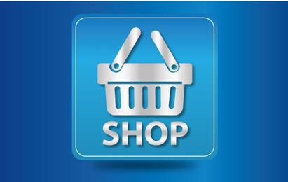 Icon Glossy Shopping Cart