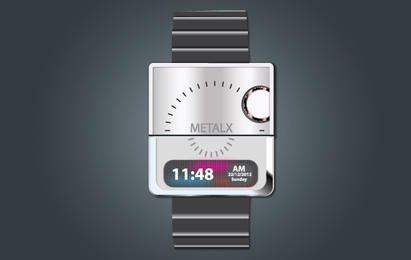 Elegante relógio digital de mão