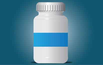 Pills Bottle Gray Intact