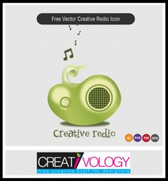 Kreative 3D-Radio-Ikone