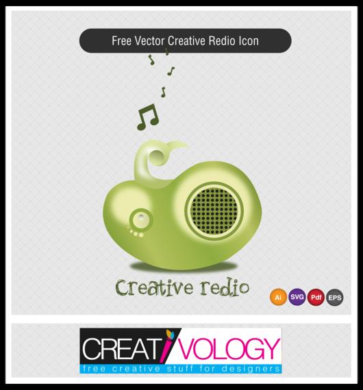 Creative 3D Radio Icon