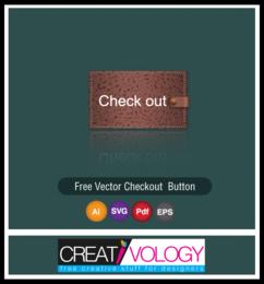 Botão de checkout de textura de couro