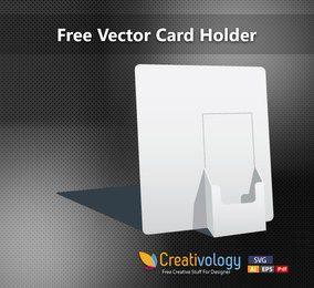 Titular de la tarjeta de papel 3D