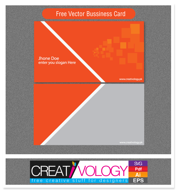 Abstract Front Back Business Card Template Vector Download - Front and back business card template