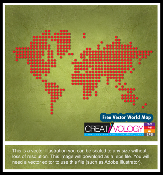 Red pixilated world map vector download red pixilated world map download large image gumiabroncs Image collections