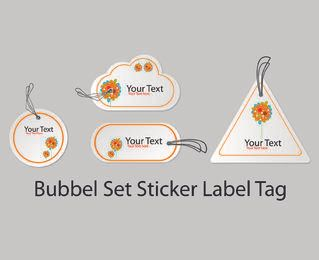 Bubble Shape Sticker Label Pack