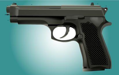 Photorealistic Revolver Vector