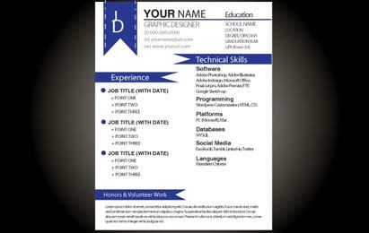 Blue Basic Resume Template