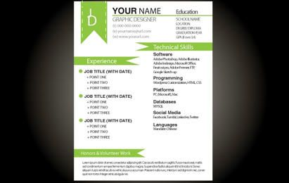 Green Basic Resume Template