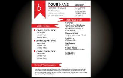 Red Grundlegende Resume-Vorlage