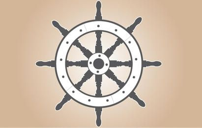 Gray Ship Wheel