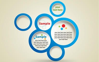 Template Blue Circle Banner