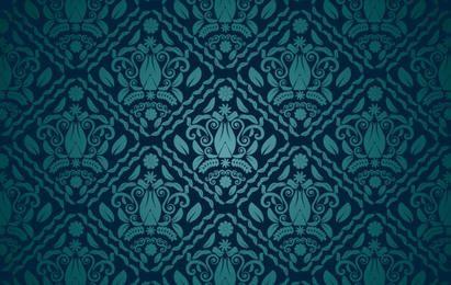 Dark Teal Seamless Pattern