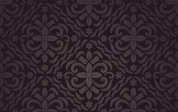 Marrón patrón floral sin fisuras