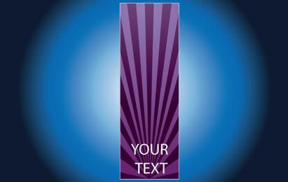 Brochure with Purple Ray