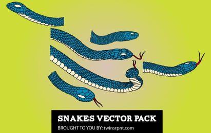 Paquete de serpientes azul