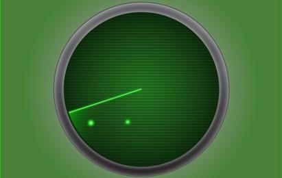 Radar ícone verde