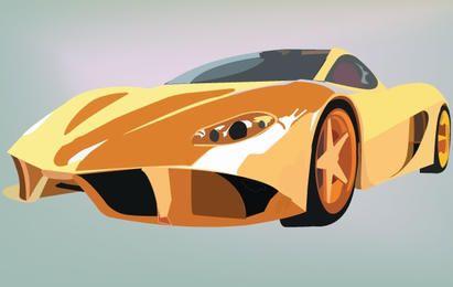 Carro esportivo amarelo da Ferrari