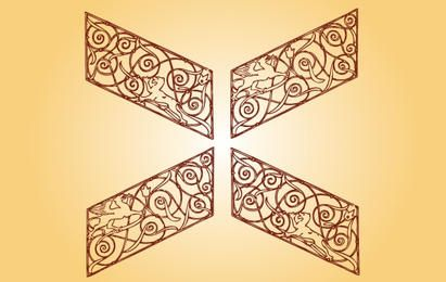 Antike dekorative dekorative Form