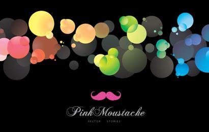 Fundo colorido de bolhas brilhantes