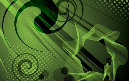 Abstract Fluorescent Fern Background