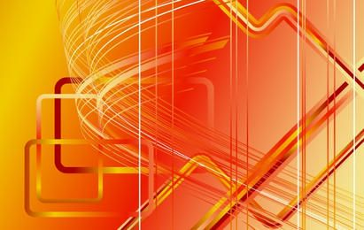 Orangey Futuristic Stripy Background
