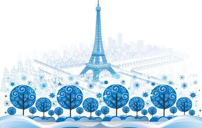 Cidade azul de paris