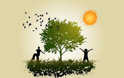 Povos em paz com a natureza