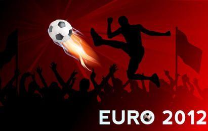 Banner de futebol da Copa do Euro